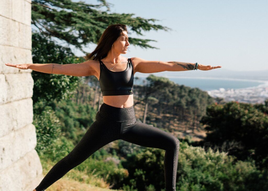 Woman In Black Sports Bra And Black Leggings Doing Yoga 3820345 (1)